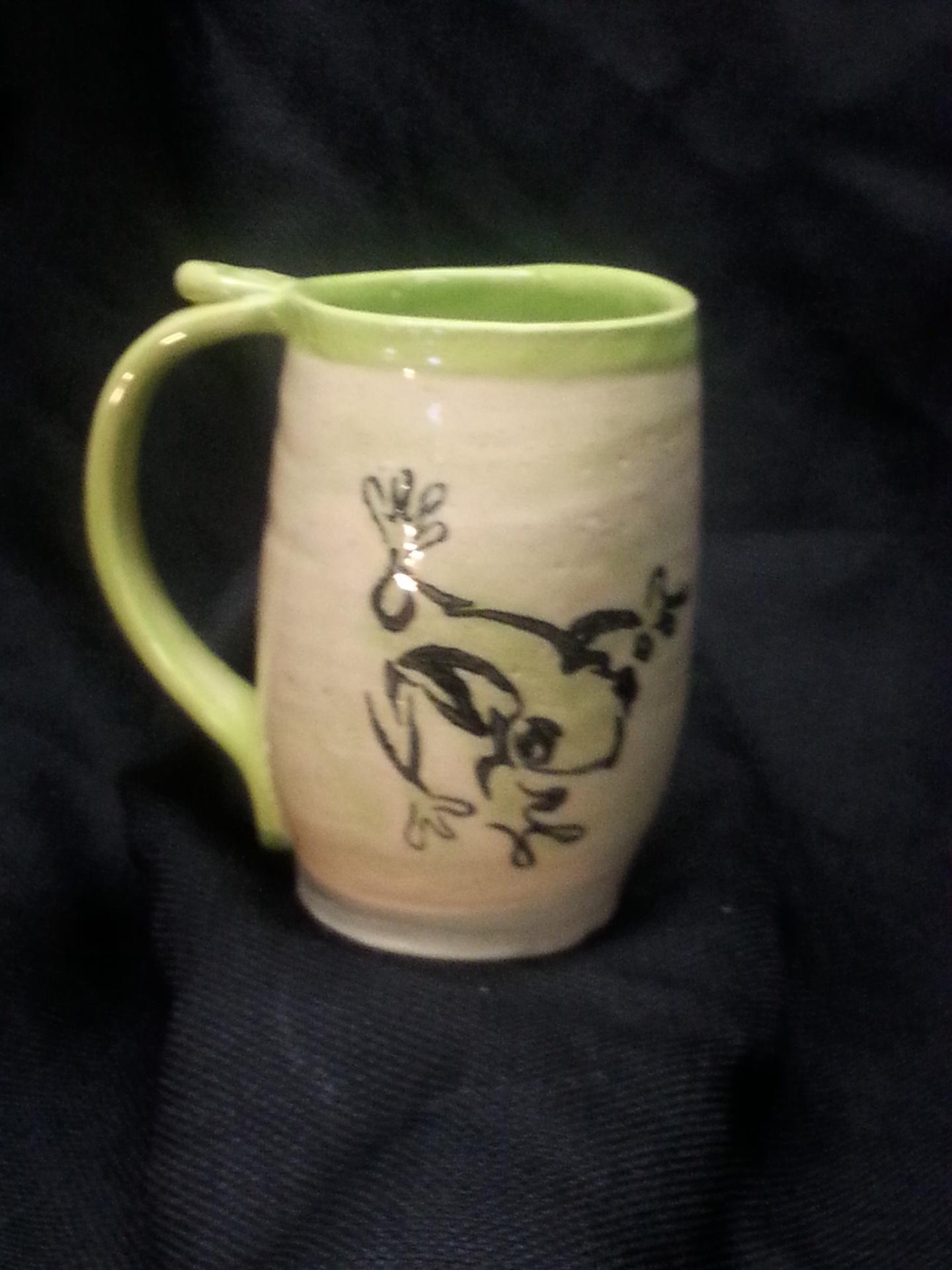 Stoneware mug - Frog