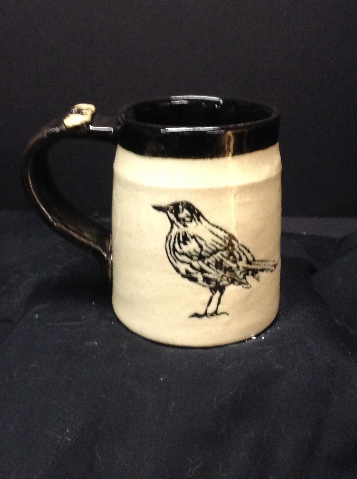 Stoneware Mug - Bird