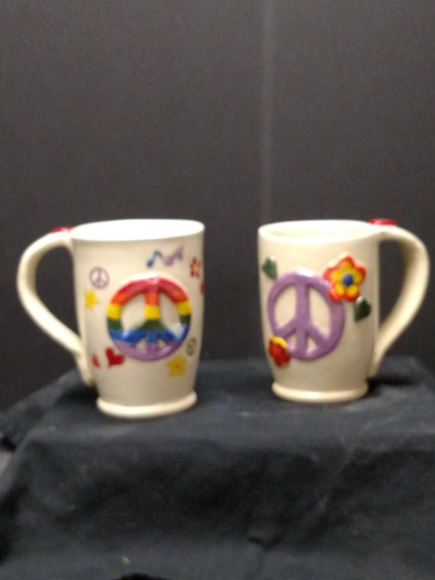 Stoneware Mugs - Peace sign