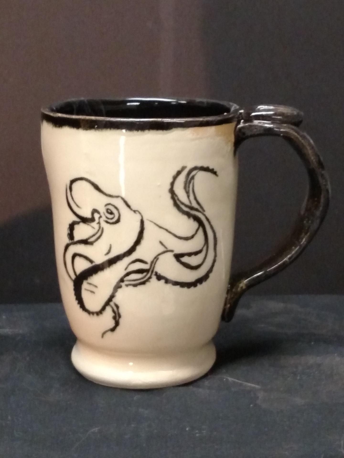 Stoneware Mug - Octopus