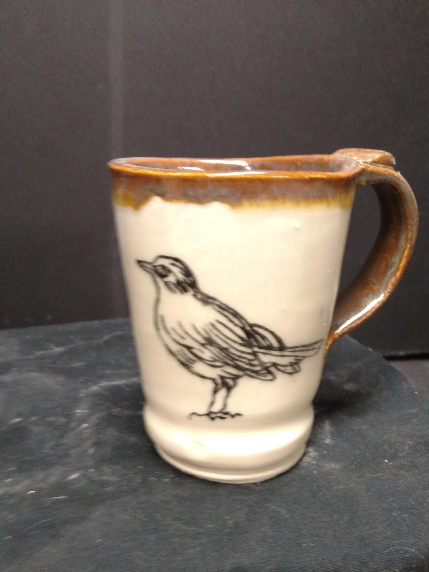 Stoneware Mug  Bird