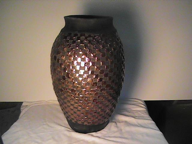 Raku fired vase