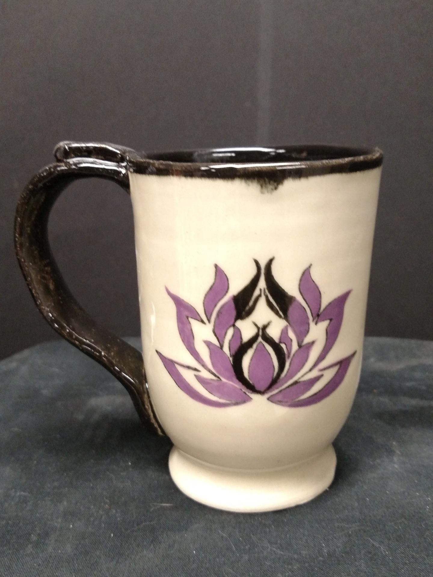 Stoneware Mug - Lotus Flower