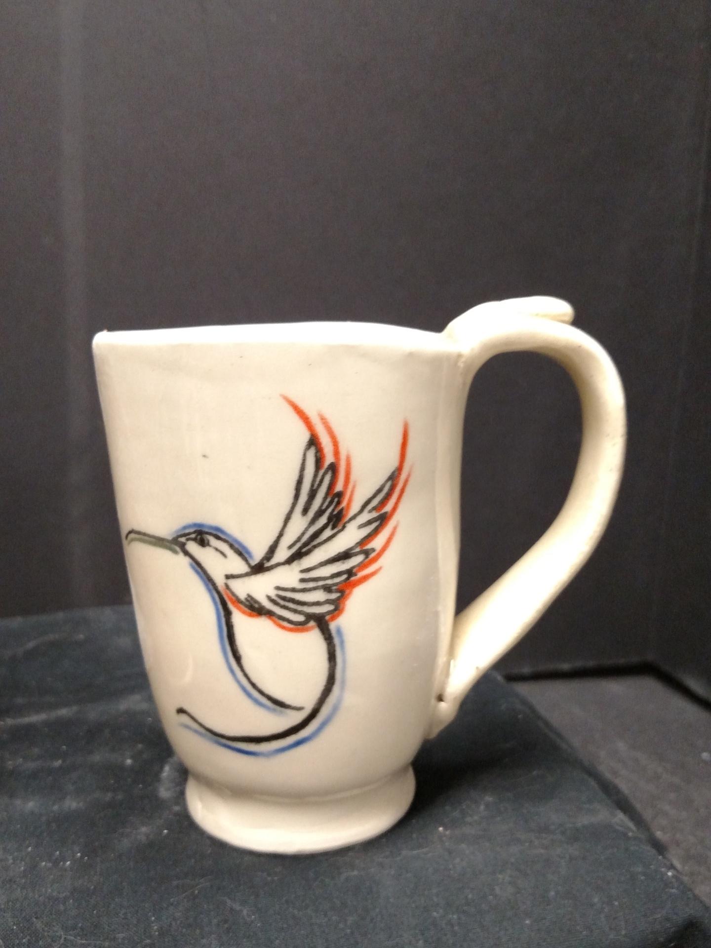Stoneware Mug - Hummingbird