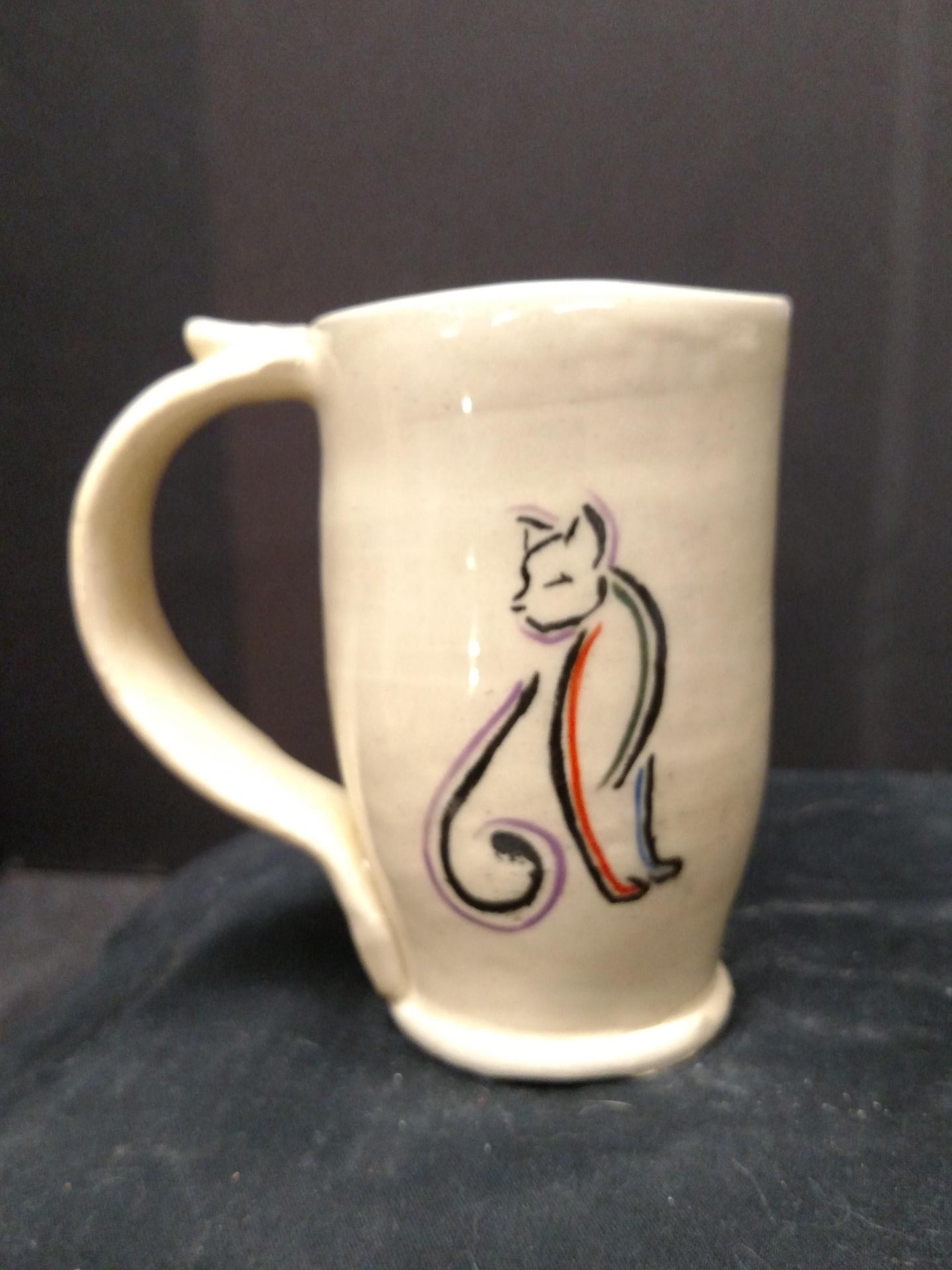 Stoneware Mug - Cat