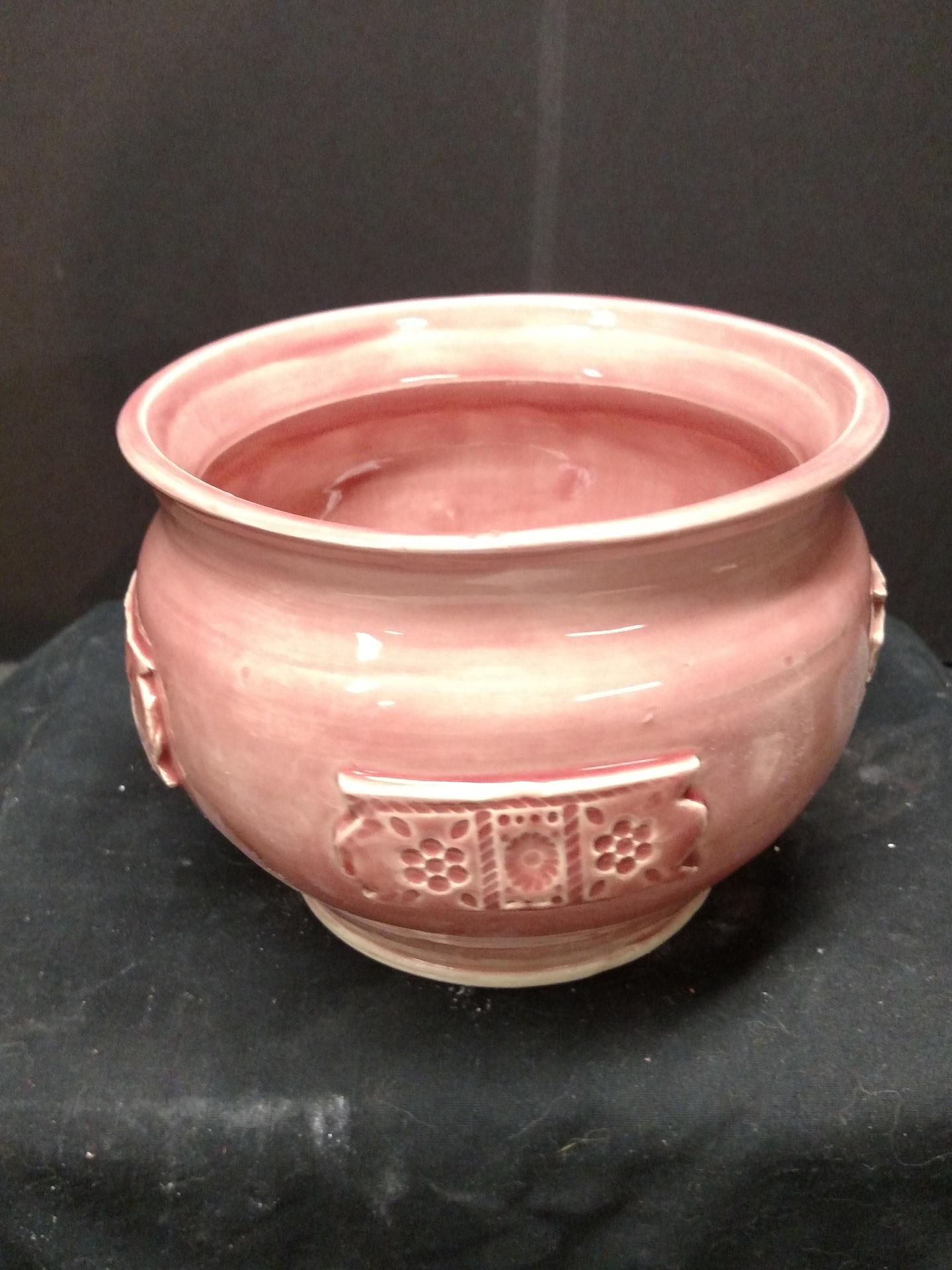 Planter - pink celadon