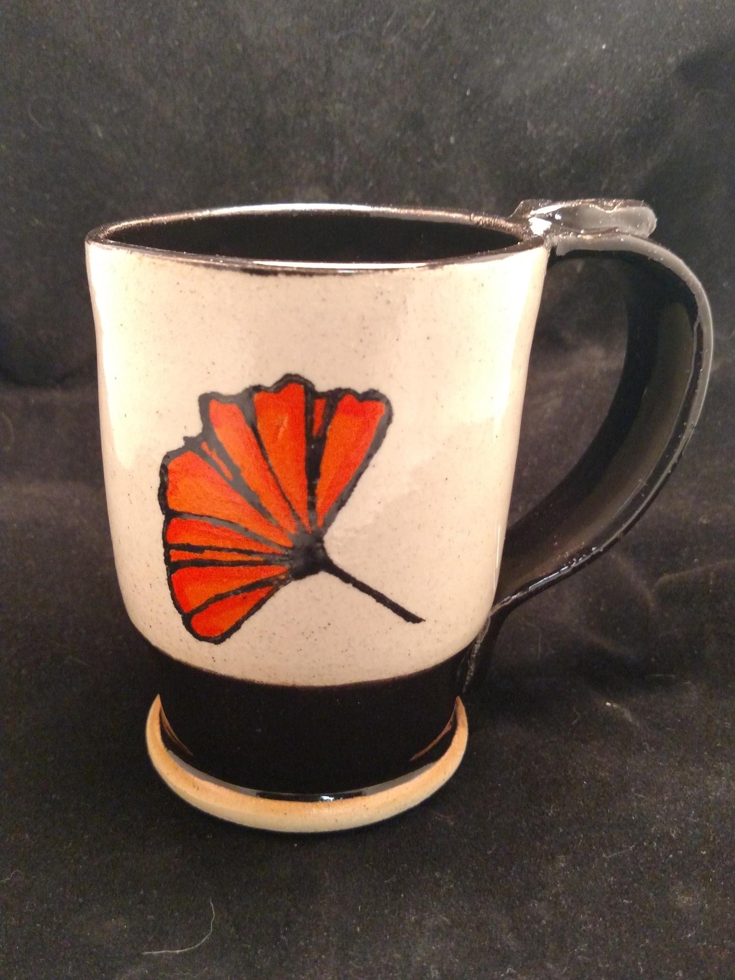 Stoneware mug - Ginko leaf