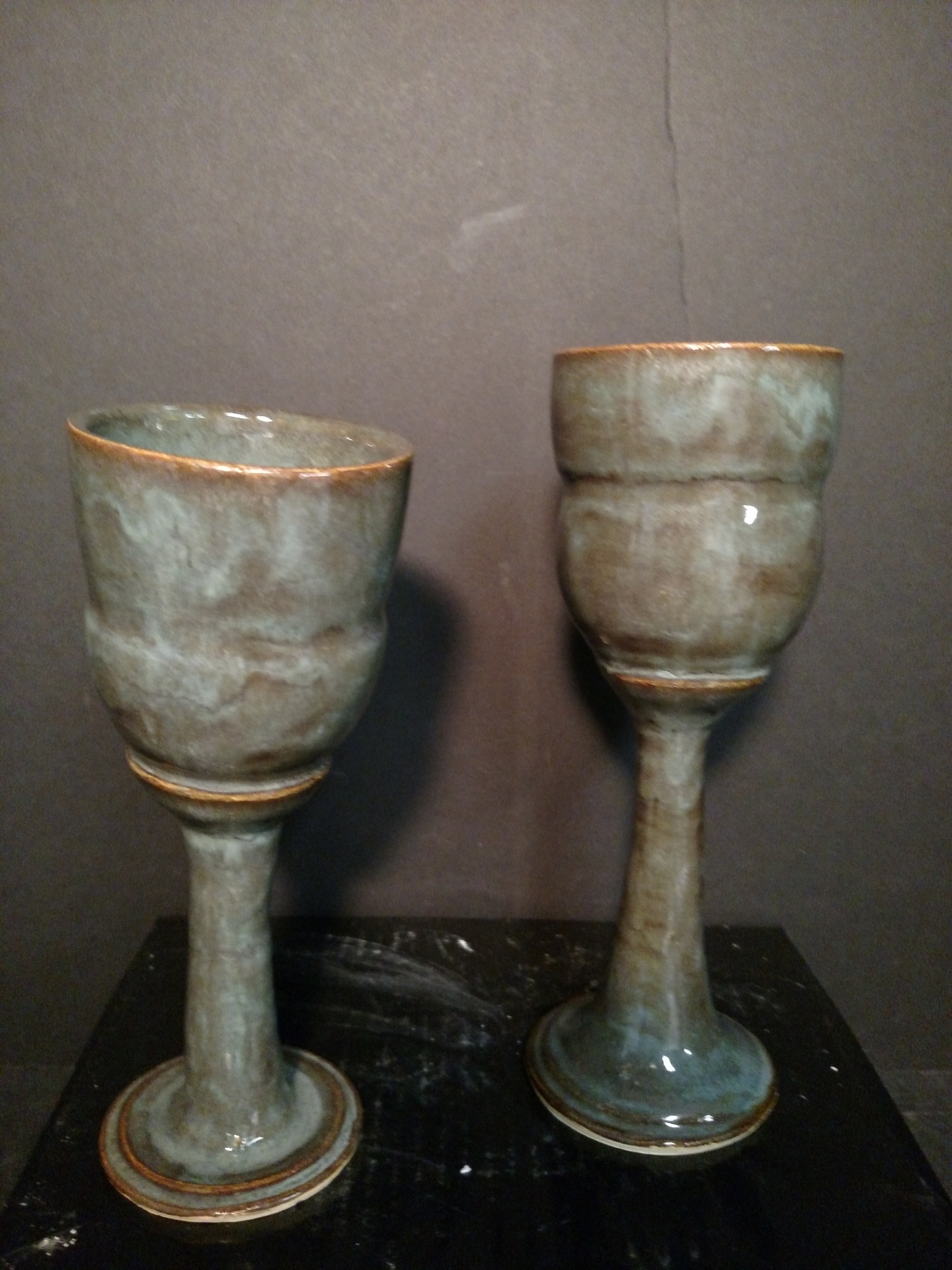 Stoneware goblets